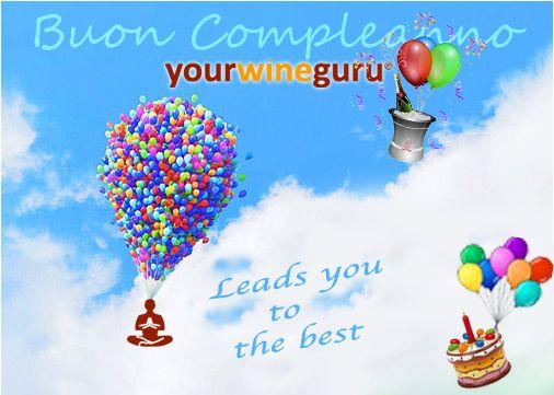 Festeggia il primo compleanno di yourwineguru! Scegli tra le migliori cantine nazionali il vino con cui brindare, su www.yourwineguru.it