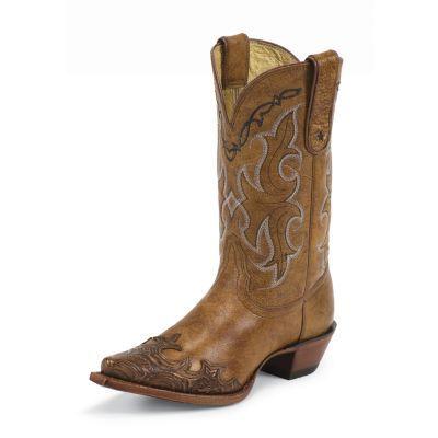 Tony Lama Women's 11 in. 100% Vaquero Collection Boot, Tan Santa Fe