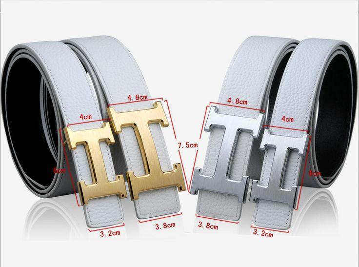 White Hermes belt 3.2cm for Women 3.8cm for Men and now just $99 for you.