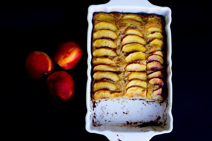 Peach & Hazelnuts summer cake www.soulbaking.wordpress.com
