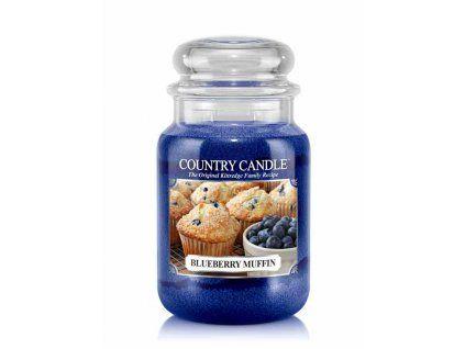 COUNTRY CANDLE Blueberry Muffin vonná sviečka veľká 2-knôtová (652 g)