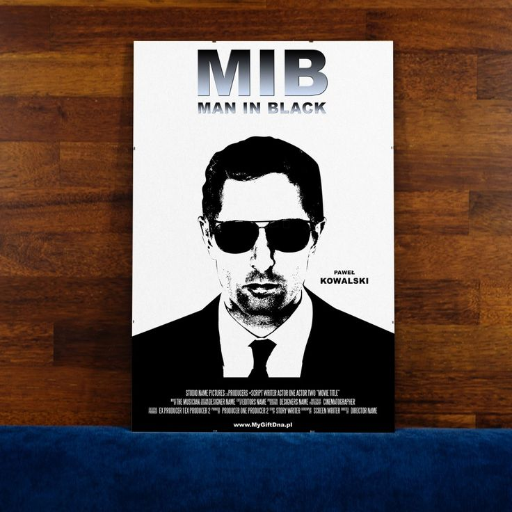 Plakat Man in Black