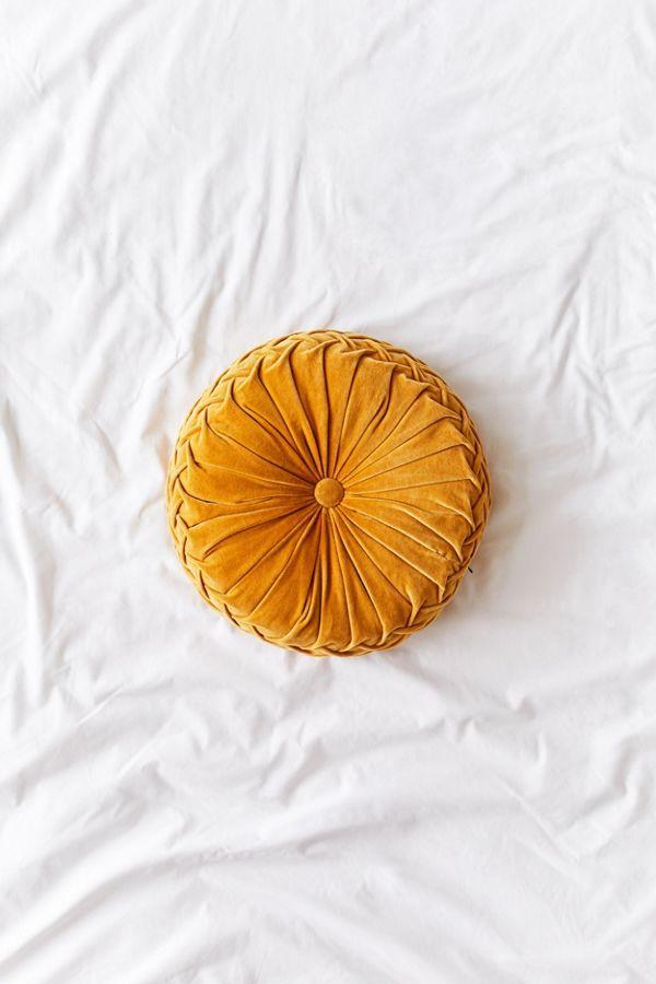 Round Pintuck Pillow In 2020 Retro Home Decor Mustard Bedding Retro Home