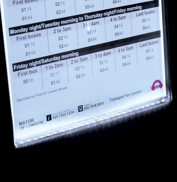 The Zeta Timetable Illumination Kit - making vital timetable information easy for passengers to read at night