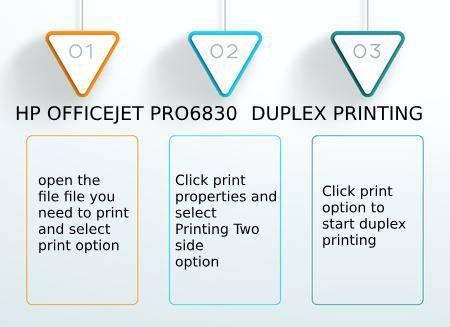 Get Simple #HP Officejet Pro 6830 Duplex Printing options