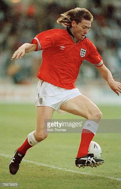 22nd May 1990 Friendly International at Wembley England 1 v Uruguay 2 Chris Waddle England Chris Waddle won 62 England international caps between...