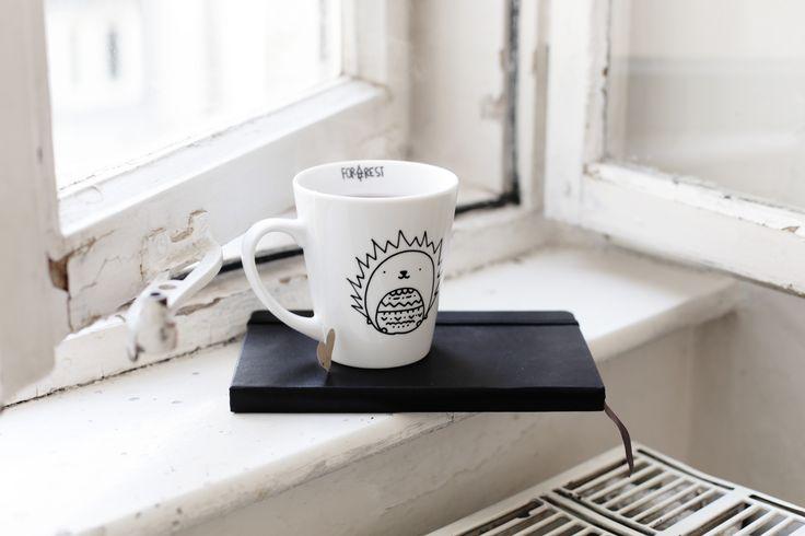 cute mug with hedgehog by forrestdesign  http://forrestdesign.pl/jez-kubek-prod201306.htm