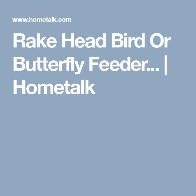 Rake Head Bird Or Butterfly Feeder... | Hometalk