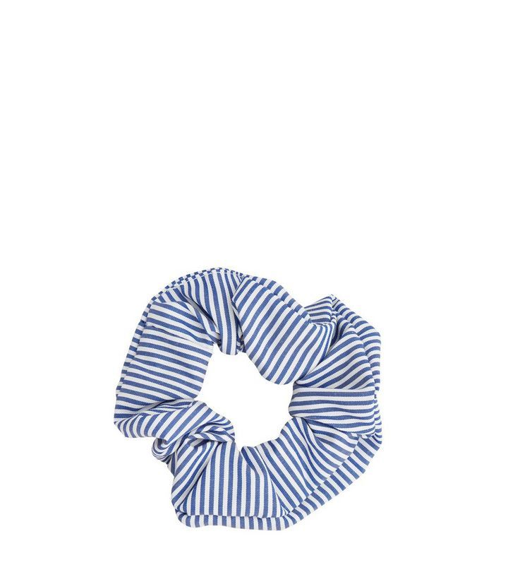 L2017 http://www.newlook.com/row/womens/accessories/hair-accessories/blue-striped-scrunchie/p/525246949?comp=Browse