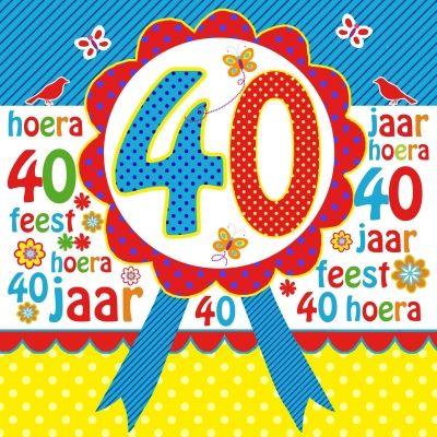 40 jaar gefeliciteerd Verjaardag