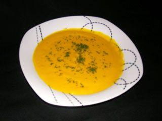 velouté de carottes au lait de coco curry