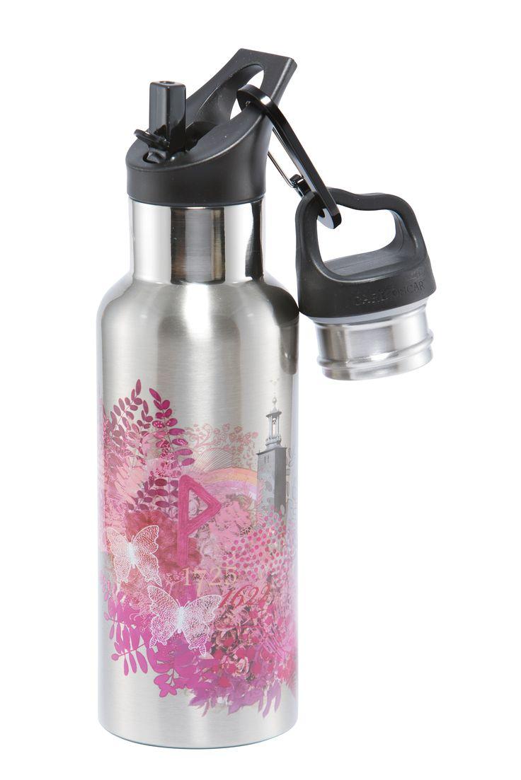 Vakuumisolerad flaska av rostfritt stål med två korkar - 0,5L - Kärlek