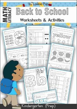 Kindergarten Back to School Math & Literacy Worksheets and Activities - a huge 135 pages!