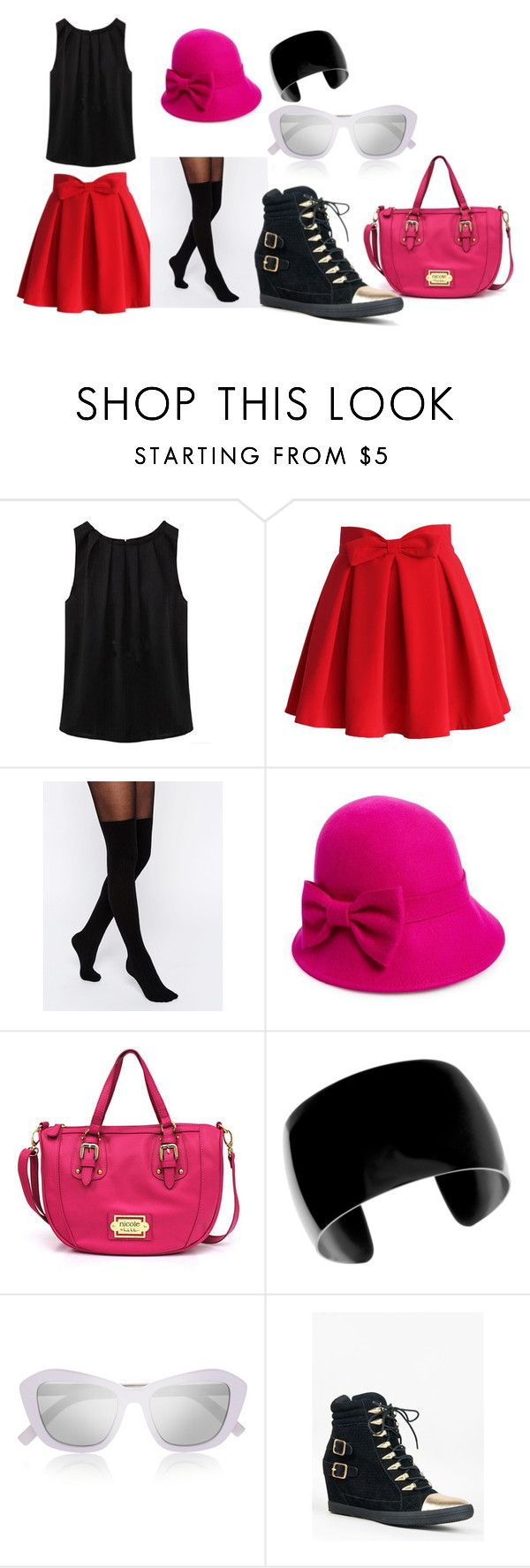 """""""Serena ~ Pokemon XY"""" by beautyonthegeek on Polyvore featuring Chicwish, ASOS, Kate Spade, Nicole By Nicole Miller, Le Specs, Y.R.U., cosplay, Pokemon, serena and xy"""