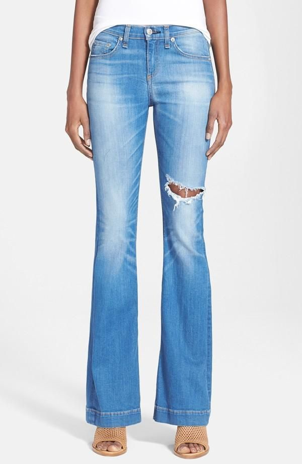 High Rise Flare Jeans (Kilbowie). In Stock, Price: $149.45.  #denim_jeans