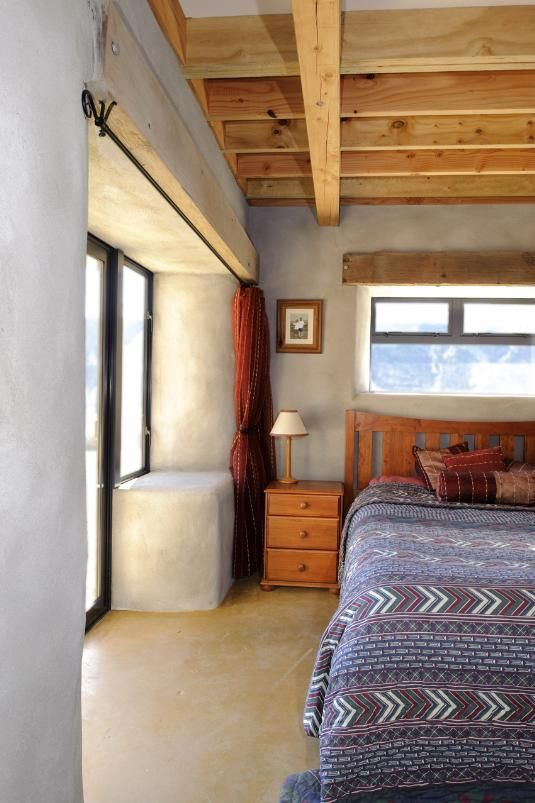 Inside a straw bale built home
