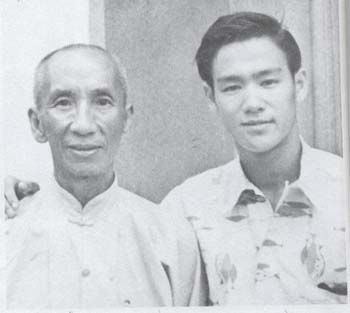 Bruce Lee with Wing Chun Kung-Fu master Yip Man