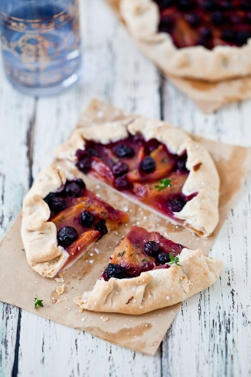 thyme cakes with lemon vodka syrup peach blueberry pie peach blueberry ...