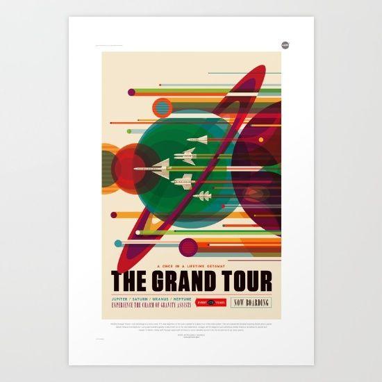 NASA/JPL Poster (The Grand Tour) Art Print