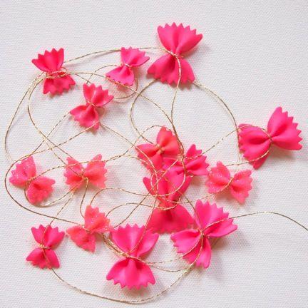pasta miracles pink garland
