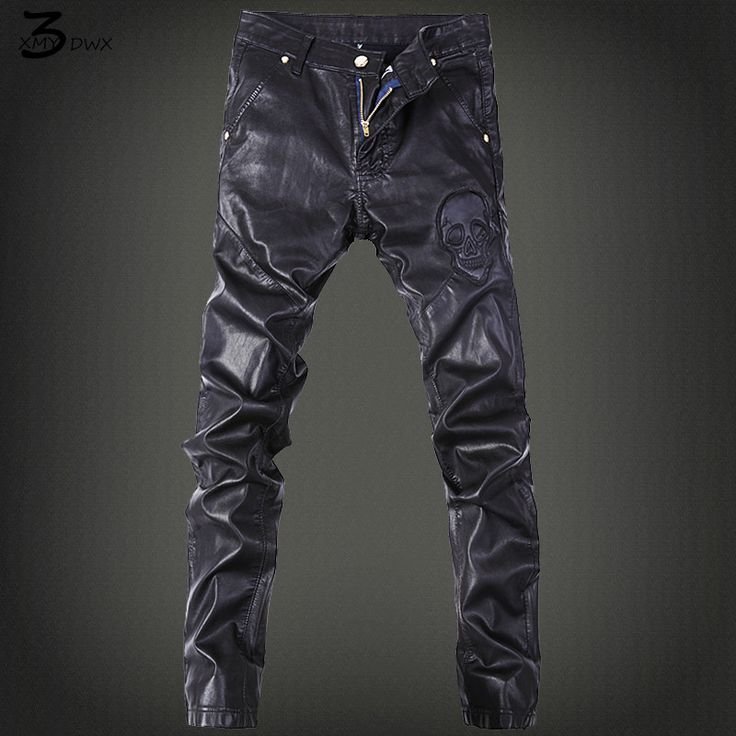 XMY3DWX Men tight leather pants locomotive products sell like hot cakes men the spring autumn period locomotive leather pants
