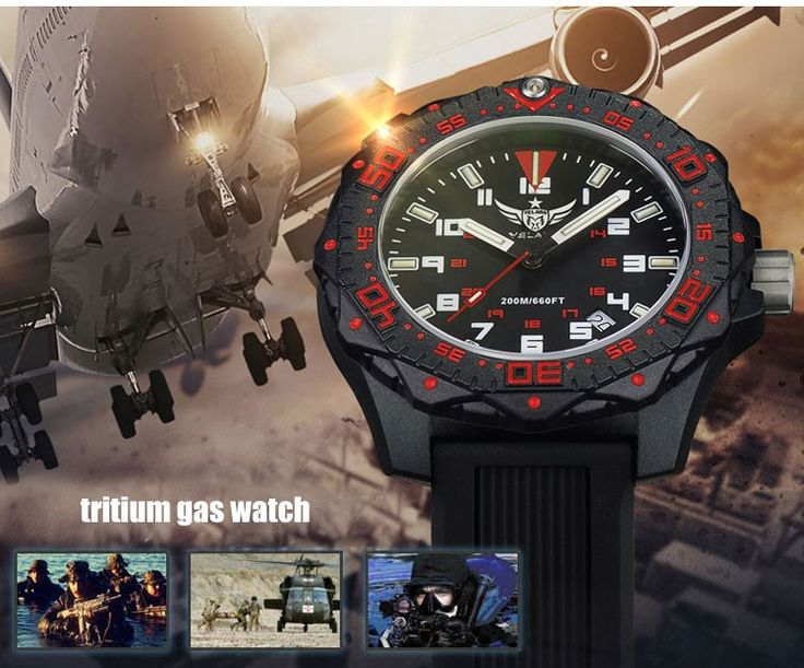 YELANG V2.2 women style tritium gas luminous waterproof sports military diving watch - Fishing Equipments