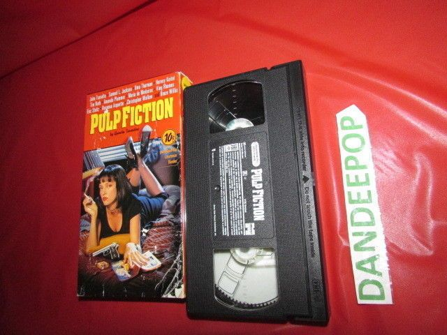 Pulp Fiction VHS Movie Video John Travolta Bruce Willis Samuel Jackson Uma  #pulpfiction #johntravolta #umathurman #samueljackson #dandeepop