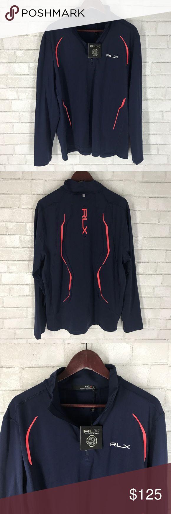 NEW Ralph Lauren RLX Golf Jacket 1/4 Zip Blue XL NEW Ralph Lauren Rlx Golf Jacket Quarter Zip Navy with tags Size XL Width 25 inches Length 31 inches RLX Ralph Lauren Jackets & Coats Lightweight & Shirt Jackets