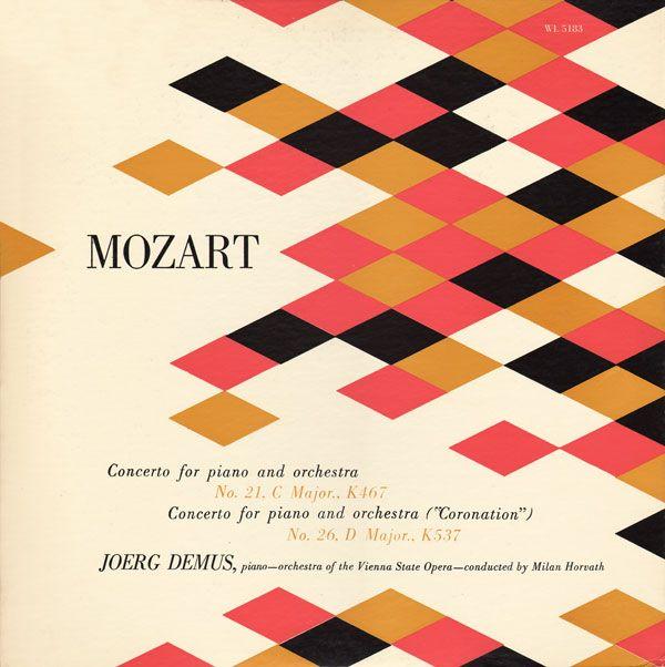 color: Album Covers, Colors Patterns, Colors Combos, Classic Music, Mozart Album, Graphics Design, Colors Palettes, Records Covers, Album Art