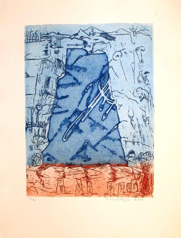 Jan Montyn: etching, sans titre (2001)