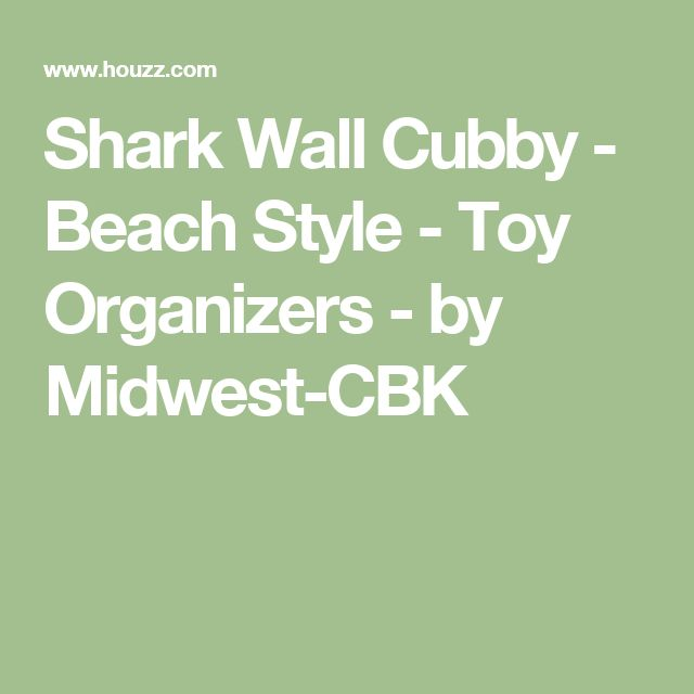 Shark Wall Cubby - Beach Style - Toy Organizers - by Midwest-CBK