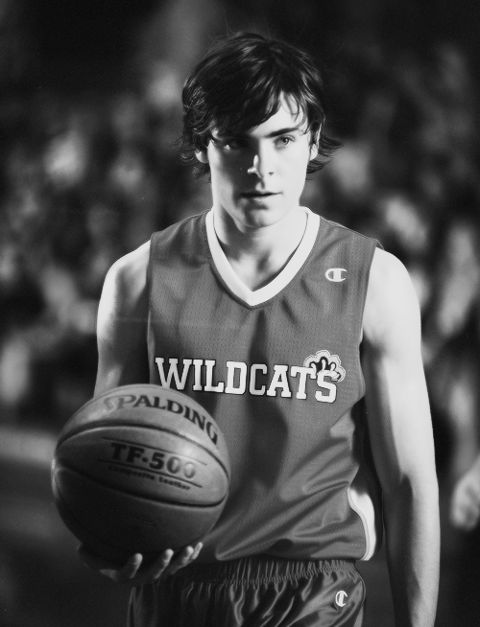 Zac Efron's High School Musical days