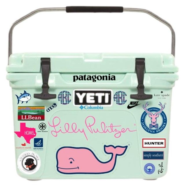 Yeti cooler by evieleet ❤ liked on polyvore featuring vineyard vines