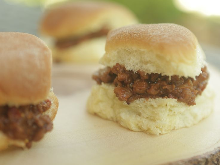 Southern Sloppy Joe Sliders recipe from Southern at Heart.  Use soy crumbles to make this vegetarian.