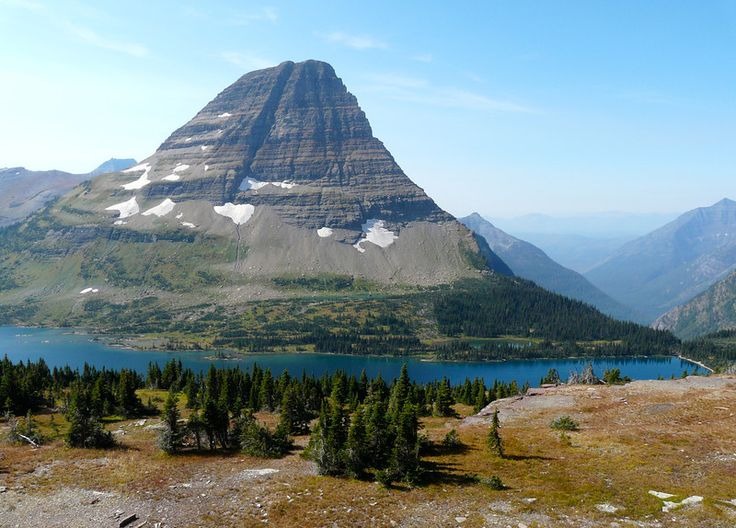 There's a view everywhere you look on the hike to Hidden Lake Overlook in Glacier National Park.