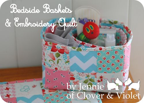 Quilted baskets -- sewing tutorial