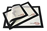 #10: SimpliFine Silicone Baking Mat Set 3 Different Silicone Baking Mats for Half Quarter and Small Oven Sheet Sizes. Reduce Calories and Bake Healthier with this Eco-Friendly Oven Baking Liner Best for Quick and Easy Clean Up  Makes A Great Gift