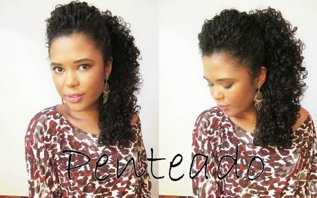 Penteado para cabelo cacheado medio