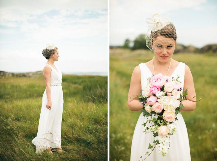 Pioner, rosor, lavendel och murgröna