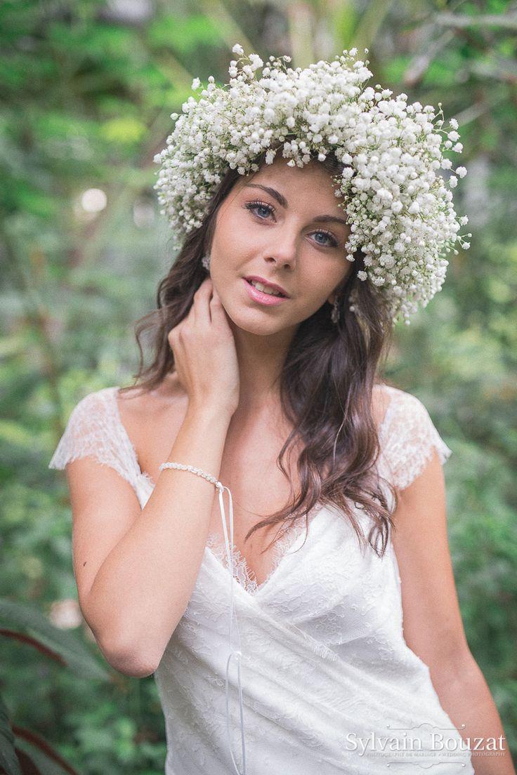#bride #flowers #mariée #ondulations #waves