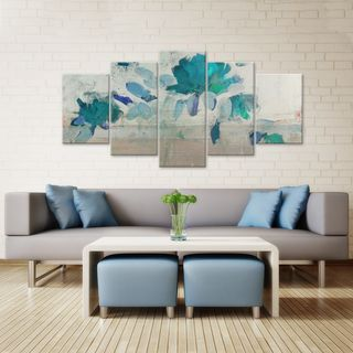 Ready2hangart Alexis Bueno 'Painted Petals IV-B' 5-piece Canvas Wall Art Set - Overstock™ Shopping - Top Rated Ready2hangart Canvas