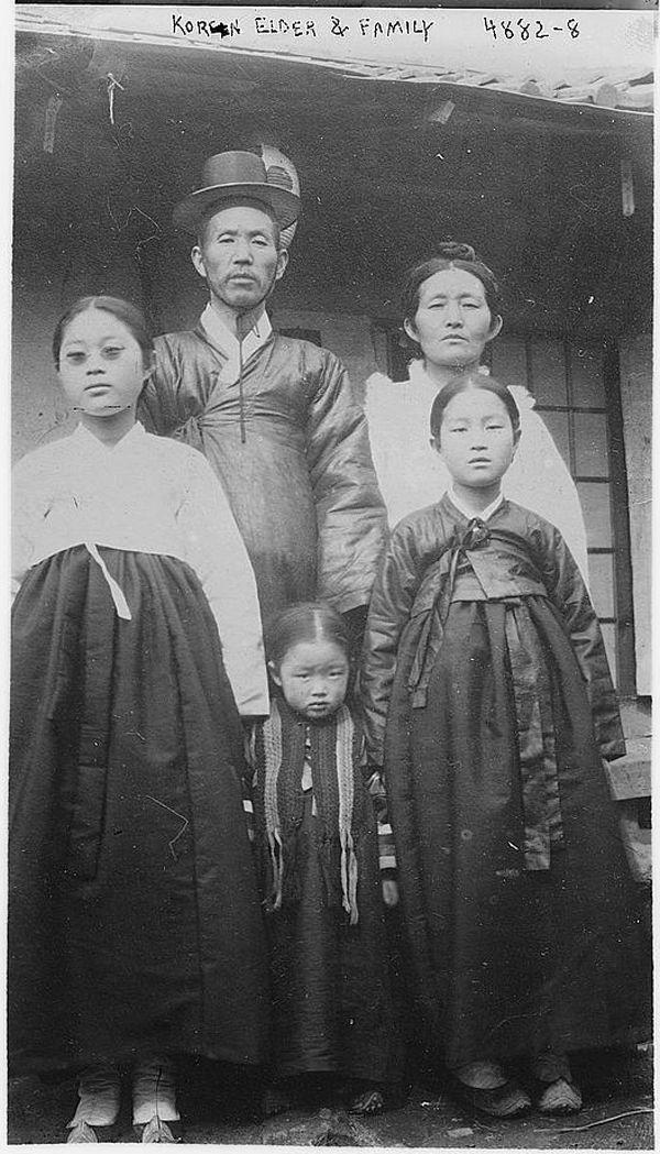Korean elder & family. Bain News Service, undated. Library of Congress
