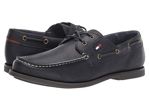 differently 3ffb9 32cff TOMMY HILFIGER Aldez, NAVY/COGNAC. #tommyhilfiger #shoes ...