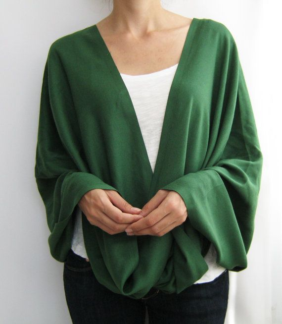 Dark green pashmina infinity scarf spring scarf by sascarves