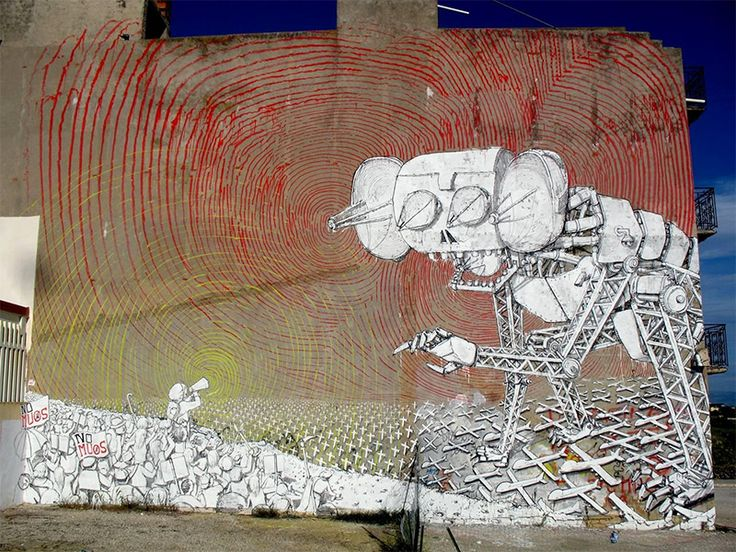 New Murals from Blu on the Streets of Italy  http://www.thisiscolossal.com/2014/04/new-murals-from-blu-on-the-streets-of-italy/
