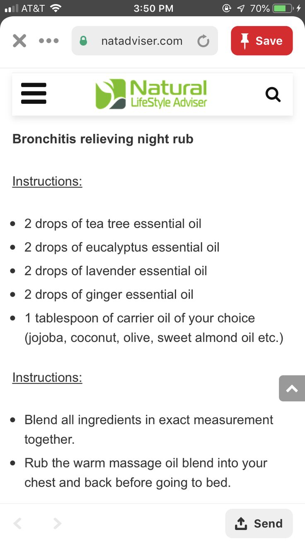 Bronchitis/Pneumonia chest/back rub Danielle Sabatini