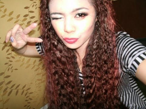 No heat crimped hair tutorial- Tyra banks, Fergie, Taeyeon inspired crimped hair - YouTube