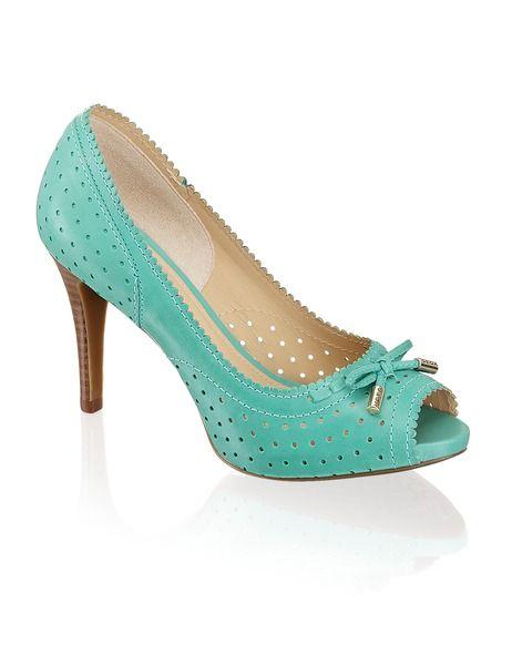 Love these teal shoes! Geox Donna Egizia Spuntat - blau - Gratis Versand | Schuhe | Peep Toes | Online Shop | 1301500828