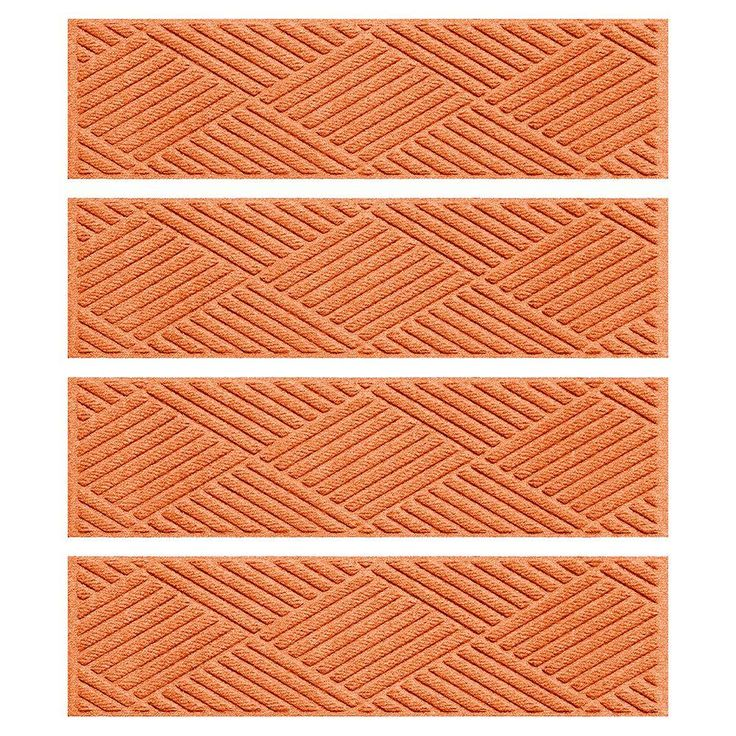 Best Aqua Shield Orange 8 5 In X 30 In Diamonds Stair Tread 400 x 300