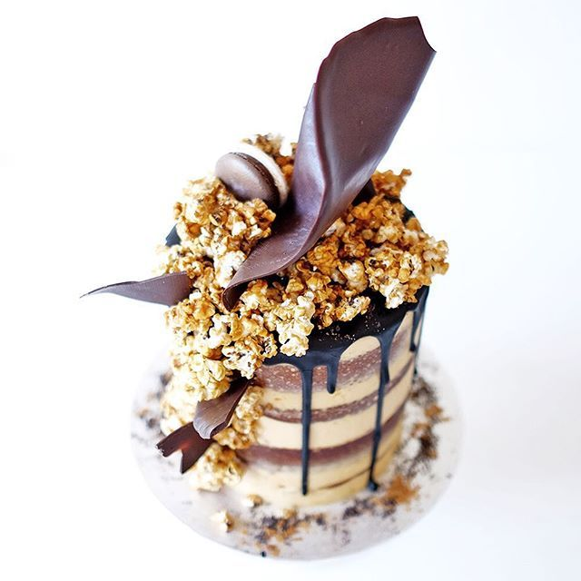 Signature Salted Caramel Popcorn Cake With Layers Of Mud And Smbc
